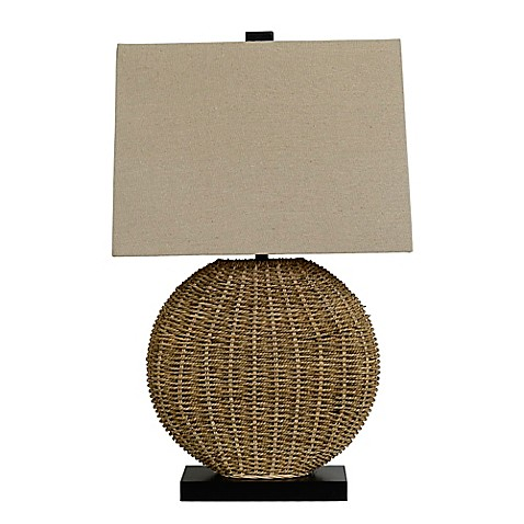 image of Oval Rattan Table Lamp Collection