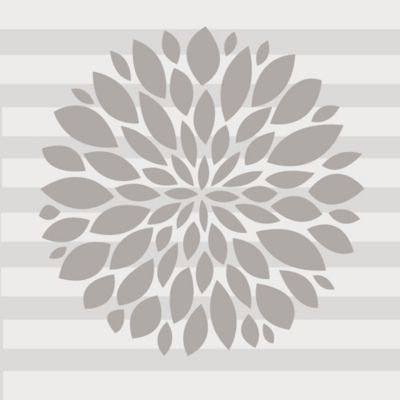 Buy flowers wall decals from bed bath beyond glenna jean flower wall decal in grey mightylinksfo