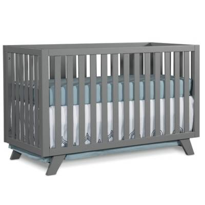 Child craft soho 4 in 1 convertible crib in grey bed for Child craft soho crib