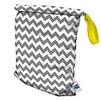 Planet Wise Medium Roll-Down Wet Bag in Grey Chevron