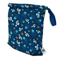 Planet Wise Medium Roll-Down Wet Bag in Navy Sea Friends