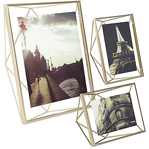 image of umbra prisma photo frame in matte brass