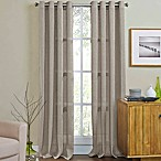 Weston 84-Inch Grommet Top Window Curtain Panel in Taupe