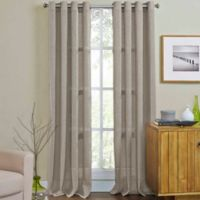 Weston 95-Inch Grommet Top Window Curtain Panel in Taupe