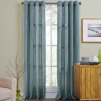 Weston 84-Inch Grommet Top Window Curtain Panel in Spa