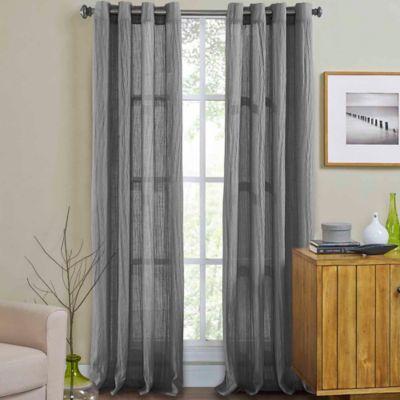 Wonderful Weston 84 Inch Grommet Top Window Curtain Panel In Light Grey