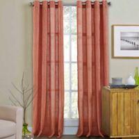 Weston 84-Inch Grommet Top Window Curtain Panel in Coral