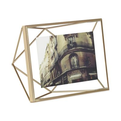 umbra prisma 4 inch x 6 inch photo frame in matte brass
