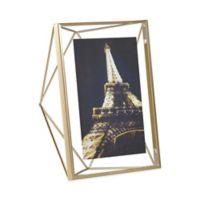Umbra® Prisma 5-Inch x 7-Inch Photo Frame in Matte Brass
