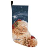 Merry Christmas Santa Tapestry Holiday Stocking