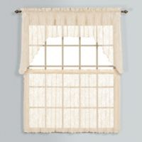 Windsor 36-Inch Lace Window Curtain Tier Pair in Natural