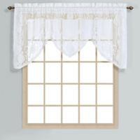 Windsor 36-Inch Lace Window Valance in White