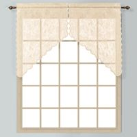 Windsor 38-Inch Lace Window Curtain Swag Pair in Natural
