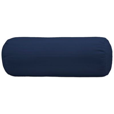 bedding essentials cotton dobby neckroll pillow protector in navy
