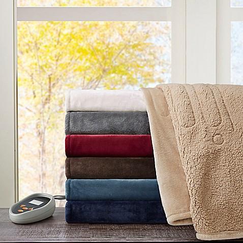 Beautyrest Microlight To Berber Reversible Heated Blanket