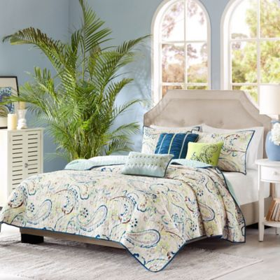 Attractive Madison Park Tamira Reversible Queen Coverlet Set