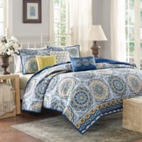 Madison Park Tangiers Queen Coverlet Set in Blue