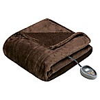 Beautyrest Microlight-to-Berber Reversible King Heated Blanket in Chocolate