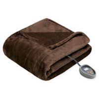 Beautyrest Microlight-to-Berber Reversible Full Heated Blanket in Chocolate