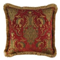 Sherry Kline China Art Square Throw Pillow in Red