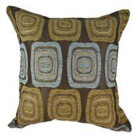 Sherry Kline Retro Square Throw Pillow in Spa Blue