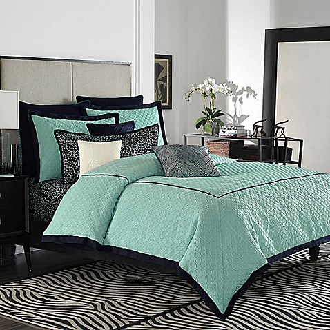 vince camuto devon reversible comforter set - bed bath & beyond