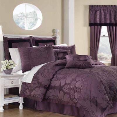 lorenzo 8piece queen comforter set - Purple Comforters