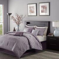 Madison Park Biloxi King/California King Duvet Set in Purple