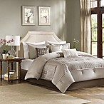 Madison Park Trinity 7-Piece Reversible King Comforter Set in Taupe