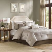 Madison Park Trinity Reversible 7-Piece King Comforter Set in Taupe
