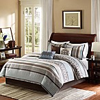 Madison Park Princeton 7-Piece Queen Comforter Set in Blue