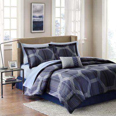 madison park rincon 7 piece twin comforter set - Modern Bedding Sets