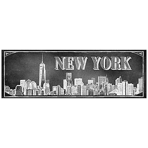 chalkboard new york skyline wall d cor bed bath beyond. Black Bedroom Furniture Sets. Home Design Ideas
