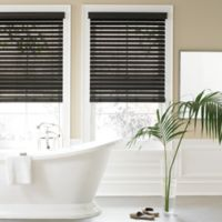 Real Simple® Faux Wood 41.5-Inch x 48-Inch Blind in Café