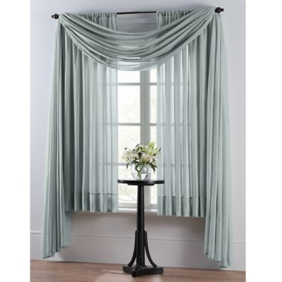 smart sheer insulating voile 108inch window curtain panel in spa blue