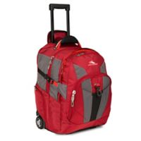 High Sierra Wheeled Business Laptop Backpack in Red