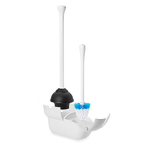 Oxo Good Grips 174 Combo Toilet Brush And Plunger Bed Bath