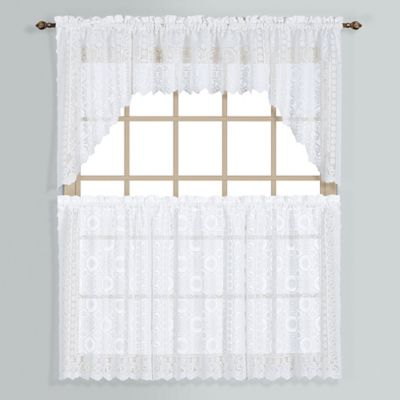 New Rochelle Lace Window Curtain Tier Pairs Bed Bath