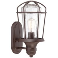 Quoizel Marine Outdoor Medium Wall Lantern in Weathered Bronze