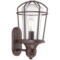 Quoizel Marine Outdoor Large Wall Lantern in Weathered Bronze