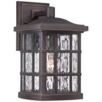 Quoizel Stonington Outdoor Medium Wall Lantern in Palladian Bronze