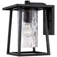 Quoizel Lodge Outdoor Large Wall Lantern in Mystic Black