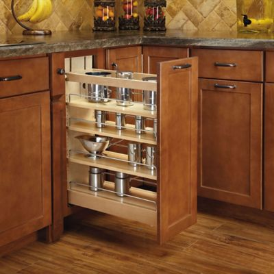 Medium image of rev a shelf   6 inch base cabinet soft close pullout organizer