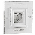 Mud Pie®  Hello World  Photo Frame in White