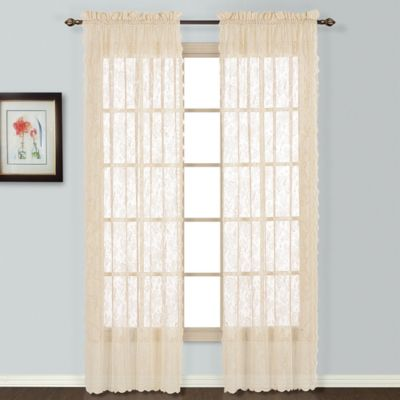 Windsor 63 Inch Lace Window Panel In Natural