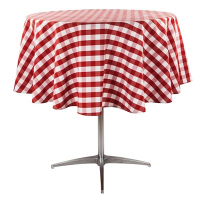 Superior Riegel® Red Check 70 Inch Round Tablecloth