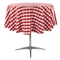 Riegel® Red Check 70-Inch Round Tablecloth