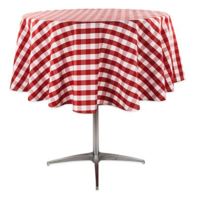 Superb Riegel® Red Check 90 Inch Round Tablecloth