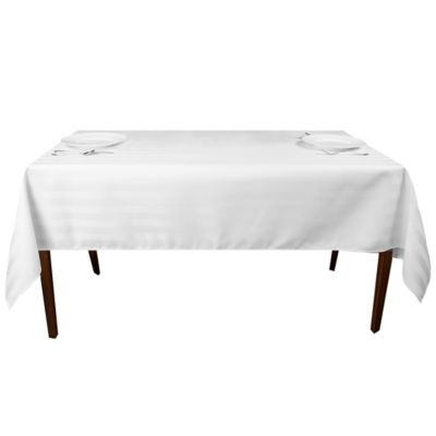 Riegel® Satin Stripe 84 Inch X 60 Inch Oblong Tablecloth In White