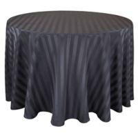 Riegel® Satin Stripe 70-Inch Round Tablecloth in Black